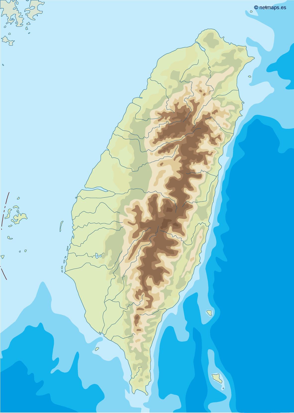 taiwan illustrator map