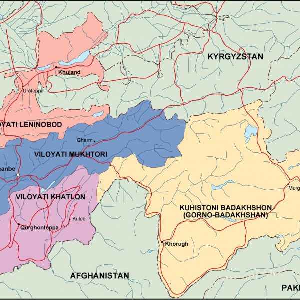 tayijistan political map