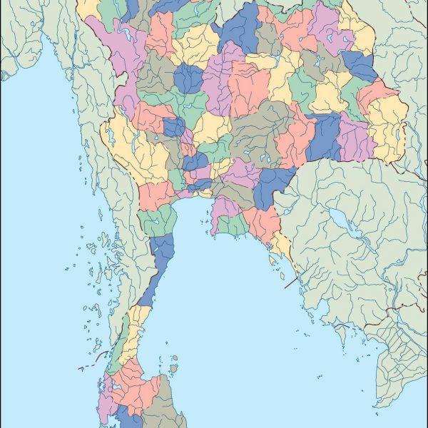 thailand blind map