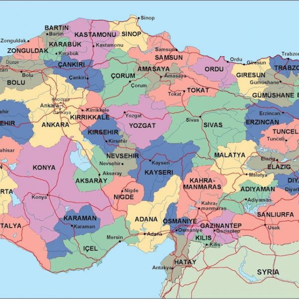 turkey political map