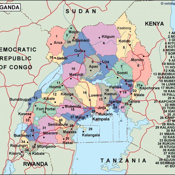 uganda political map