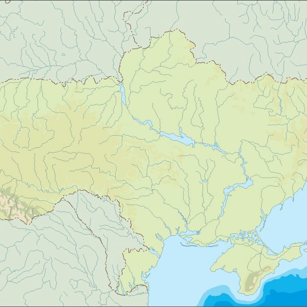 ukraine illustrator map