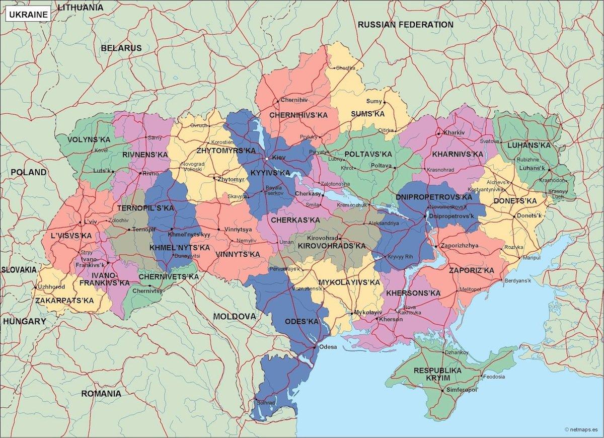 ukraine political map