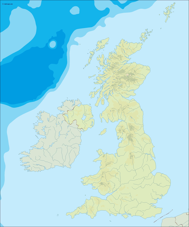 united kingdom illustrator map