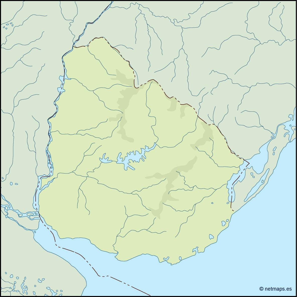 uruguay illustrator map