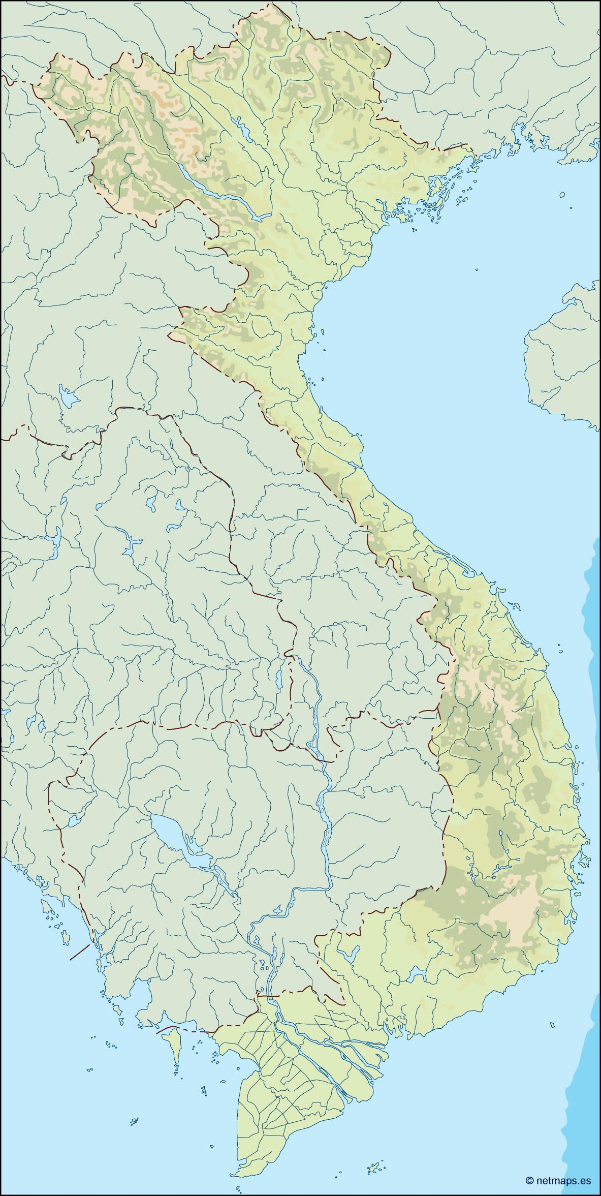 vietnam illustrator map