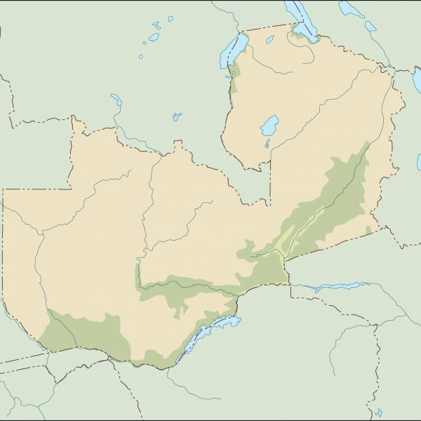 zambia illustrator map