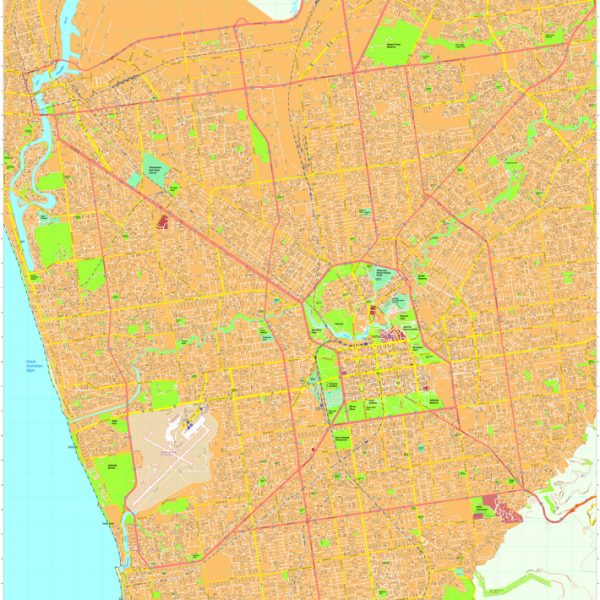 Adelaide Vector Maps