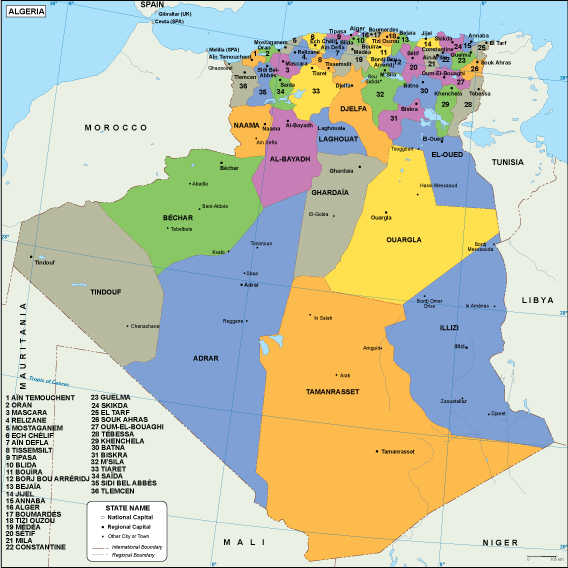 Algeria EPS map
