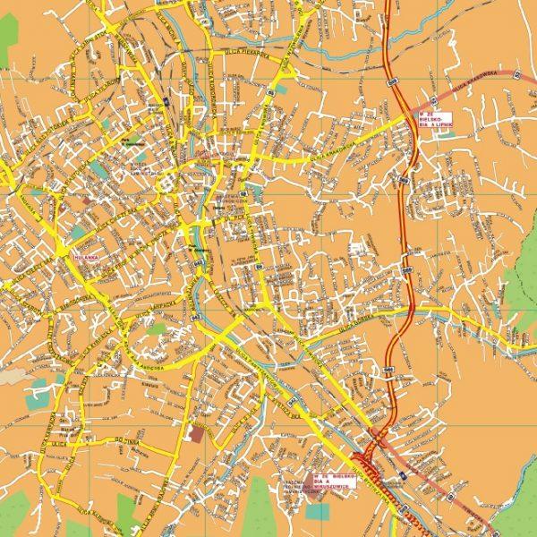Bielsko Biala EPS map