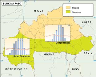 Burkina Faso climate map