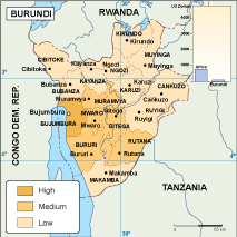 Burundi economic map