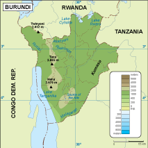 Burundi physical map