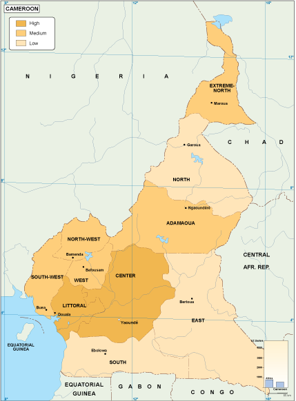 Cameroon economic map