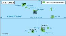 Cap Verde vegetation map