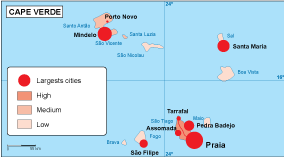 Cape Verde population map