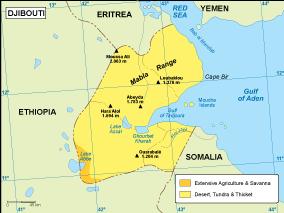 Djibouti vegetation map
