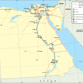 Egypt transportation map