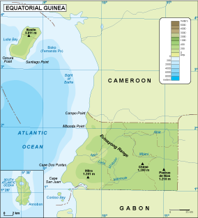 Equatorial Guinea physical map