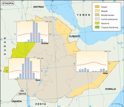 Ethiopi climate map