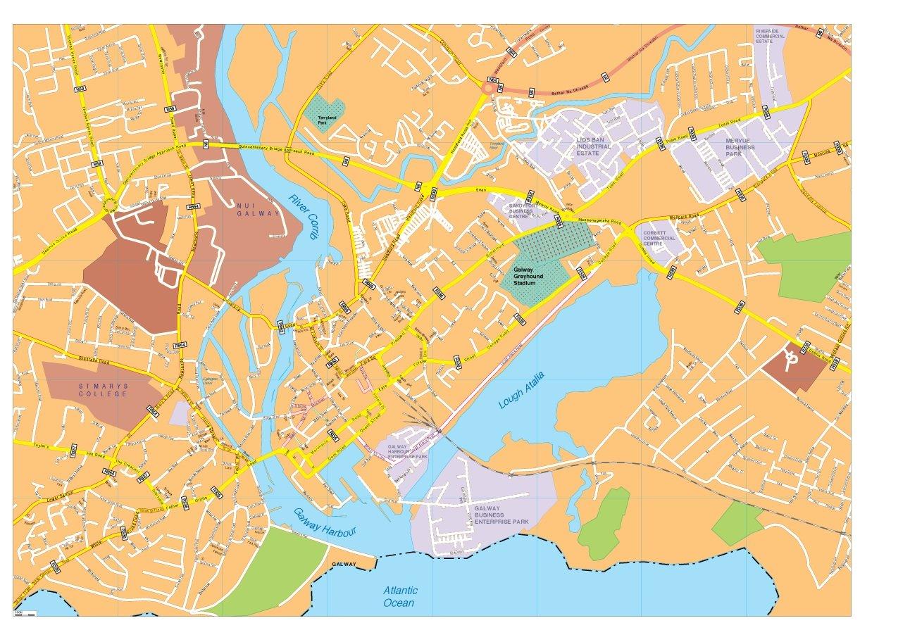 Galway vector map