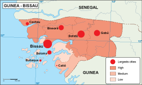 Guinea Bissau population map