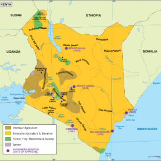 Kenya vegetation map