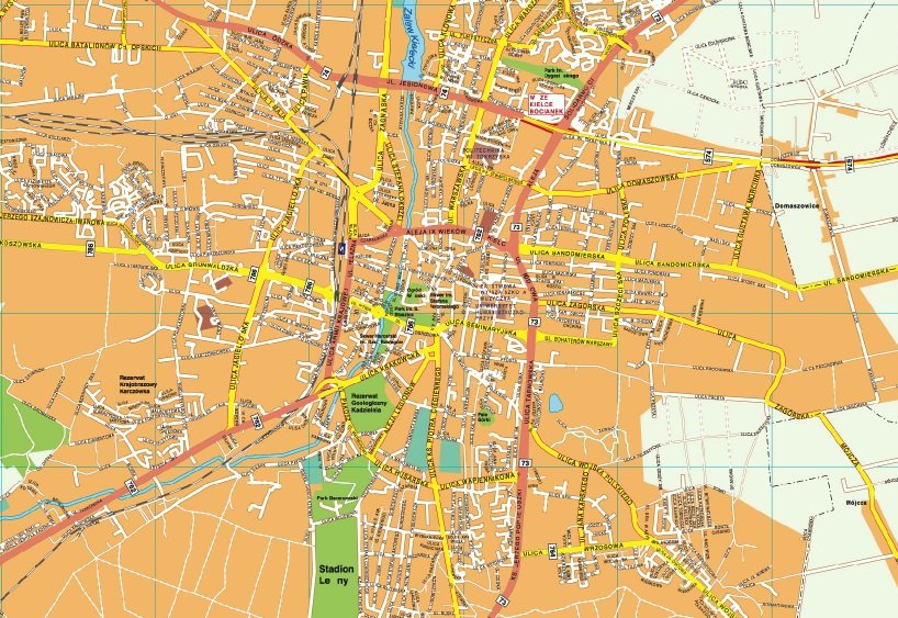 Kielce EPS map