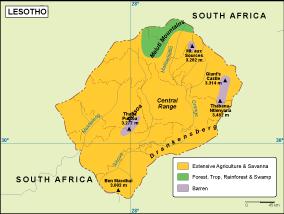 Lesotho vegetation map