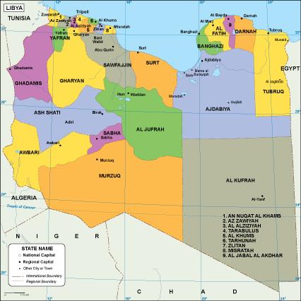 Libya EPS map