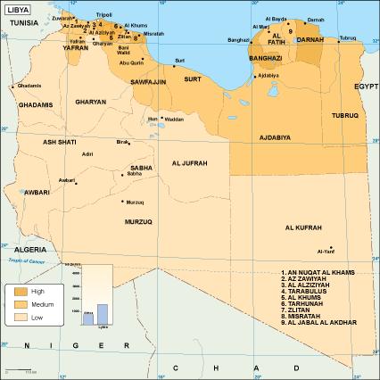 Libya economic map