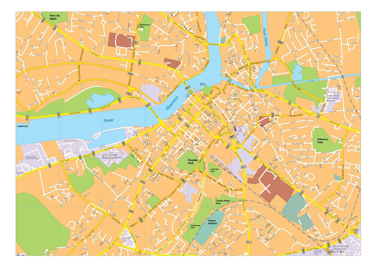 Limerick vector map