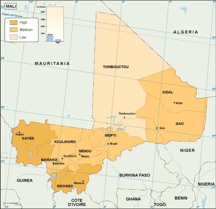 Mali economic map