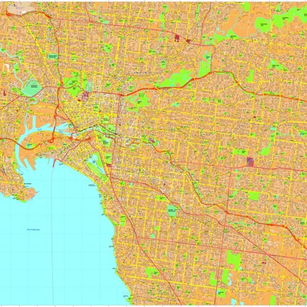 Melbourne Vector Maps