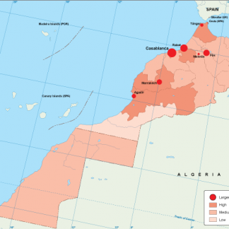 Morocco population map