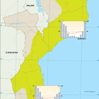 Mozambique climate map
