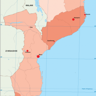 Mozambique population map