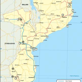 Mozambique transportation map