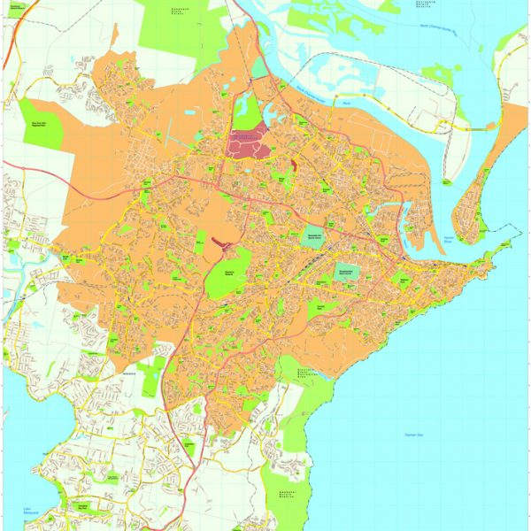 Newcastle Vector Maps