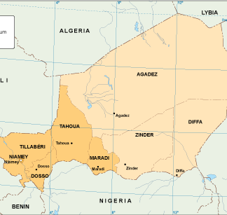 Niger economic map