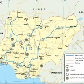 Nigeria transportation map