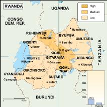 Rwanda economic map