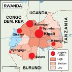 Rwanda population map