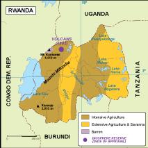 Rwanda vegetation map