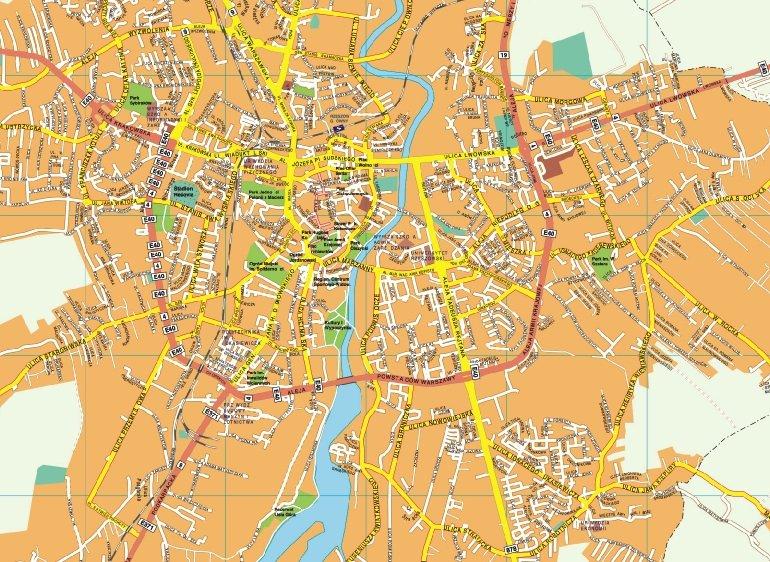 Rzeszow EPS map