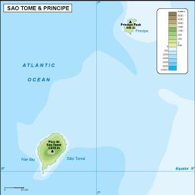 Sao Tome e Principe physical map