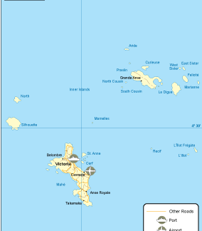 Seychelles transportation map
