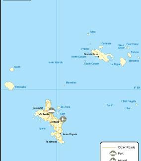 Seychelles transportation map