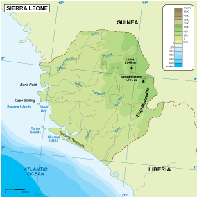 Sierra Leone physical map