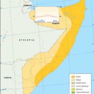 Somalia climate map